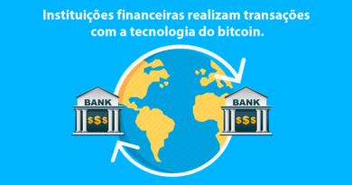 Instituições financeiras realizam transações com a tecnologia do bitcoin